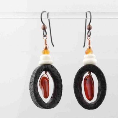 Lava & Bone Earrings